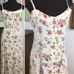Vintage Floral Dress, Romantic Bohemian Sundress